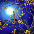Golden Flowers In Moonlight by Laura Iverson