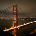 Golden Gate At Night by Cathy Lovell