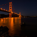 Golden Gate At Night by Maricel Quesada