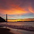 Golden Gate Bridge At Dawn by Rick Pisio