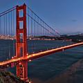 Golden Gate Bridge At Night by Rebecca Gillum