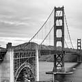 Golden Gate Bridge Black And White by Andrew Hollen