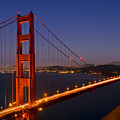 Golden Gate Bridge at Night by Melanie Viola