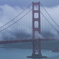 Golden Gate Bridge Fogged In by Teri Virbickis
