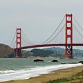 Golden Gate Bridge From Baker Beach by Renee Hong