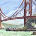 Golden Gate Bridge From Fort Baker, Ca by Judith Kunzle