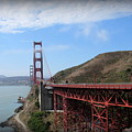 Golden Gate Bridge From The Scenic Lookout Point by Joy Patzner