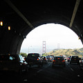 Golden Gate Bridge From Tunnel by Ausra Huntington nee Paulauskaite