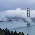 Golden Gate Bridge In The Fog by Teri Virbickis