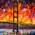 Golden Gate Bridge  by Leonid Afremov