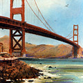 Golden Gate Bridge Looking North by Donald Maier