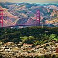 Golden Gate Bridge - Twin Peaks by Doug Sturgess