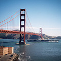 Golden Gate Bridge With Aircraft Carrier by Frank DiMarco