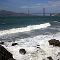 Golden Gate Bridge With Surf by Carol Groenen