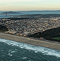 Golden Gate Park And Ocean Beach In San Francisco by David Oppenheimer