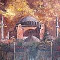 Golden Hagia Sofia by Charalampos Laskaris