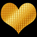 Golden Heart Black  by Yamy Morrell