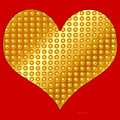 Golden Heart Red by Yamy Morrell
