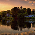 Golden Hour New England Scenery  by Lilia D