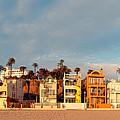 Golden Hour Panorama Of Santa Monica Condos And Bungalows - Los Angeles California by Silvio Ligutti