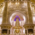 Golden Interiors Of Sheikh Zayed Mosque by Yogendra Joshi