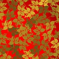 Golden Leaves And Red Backlight by Alberto RuiZ