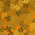 Golden Leaves In Golden Environmet by Alberto RuiZ