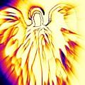 Golden Light Angel by Alma Yamazaki