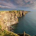 Golden Light At The Cliffs Of Moher by Pierre Leclerc Photography