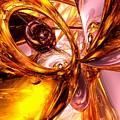 Golden Maelstrom Abstract by Alexander Butler