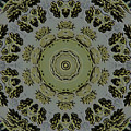 Mandala In Pewter And Gold by Jodi DiLiberto