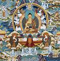 Golden Medicine Buddha Thangka by Tim Gainey