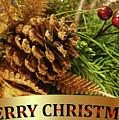 Golden Merry Christmas  by Olga Hamilton