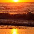Golden Ocean City Sunrise by Candy Bott