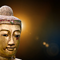 Golden Old Buddha Head by Mike Borth