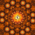 Golden Om Fracdala by Richard Copeland