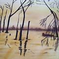 Golden Pond by Audrey Bunchkowski