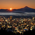 Golden Portland Morning by Wes and Dotty Weber