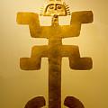 Golden Pre-columbian Figure by Eyal Aharon