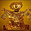 Golden Priest Statue by Alexandra Jordankova