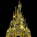 Golden Princess Fairytale Castle by Safran Fine Art