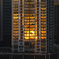 Golden Reflections Of Honolulu by Richard Henne