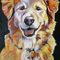 Golden Retriever Most Huggable by Susan A Becker