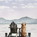 Golden Retriever On The Dock by David Rogers