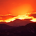 Golden Rocky Mountain Sunset by James BO  Insogna