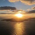 Golden Santorini Sunset by Four Stock