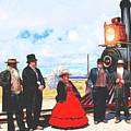 Golden Spike Railroad - Wating - 0749 G by Image Takers Photography LLC