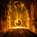 Golden Spinning Sphere by Pelo Blanco Photo