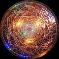 Golden Spiral Copper Lightmandala by Robert Thalmeier