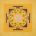 Golden Sri Yantra - The Original by Piitaa - Sacred Art